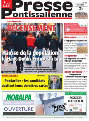 Couverture La presse pontissalienne n°101