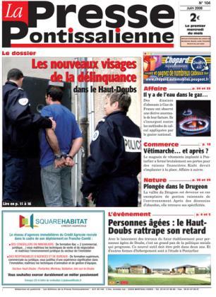 Couverture La presse pontissalienne n°104