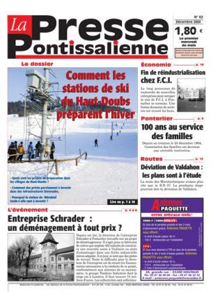Couverture La presse pontissalienne n°62