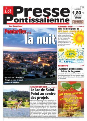 Couverture La presse pontissalienne n°70