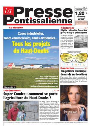Couverture La presse pontissalienne n°72