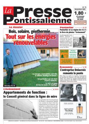 Couverture La presse pontissalienne n°73