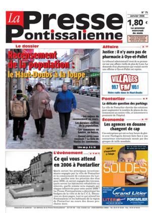 Couverture La presse pontissalienne n°75