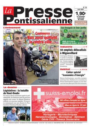 Couverture La presse pontissalienne n°92