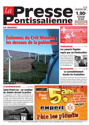 Couverture La presse pontissalienne n°95
