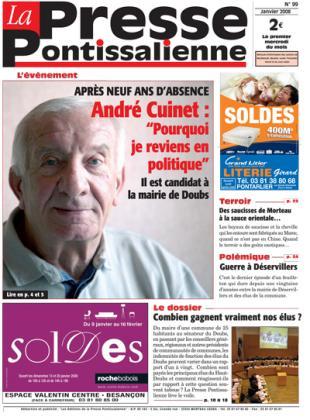 Couverture La presse pontissalienne n°99