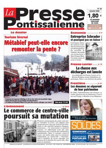 Couverture La presse pontissalienne n°63