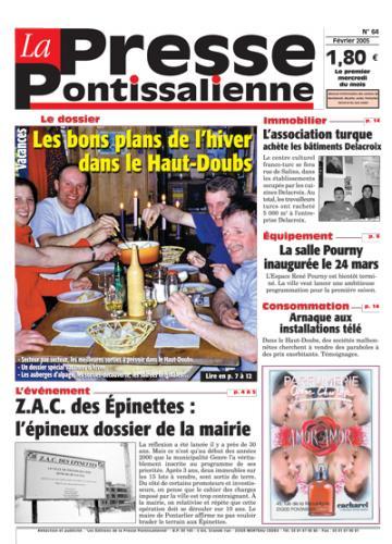 Couverture La presse pontissalienne n°64